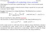 examples of scattering cross sections23
