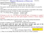 magnet moments of baryons