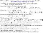 magnet moments of baryons16