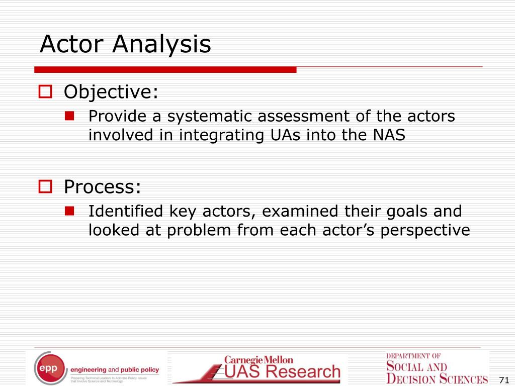 Actor Analysis