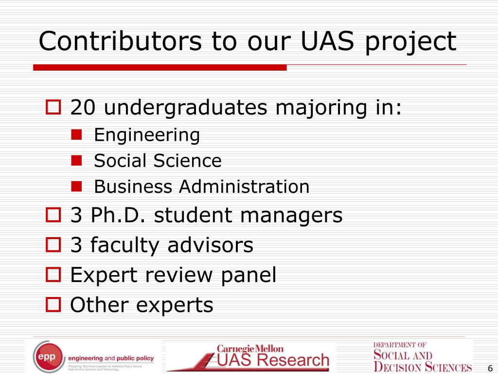 Contributors to our UAS project