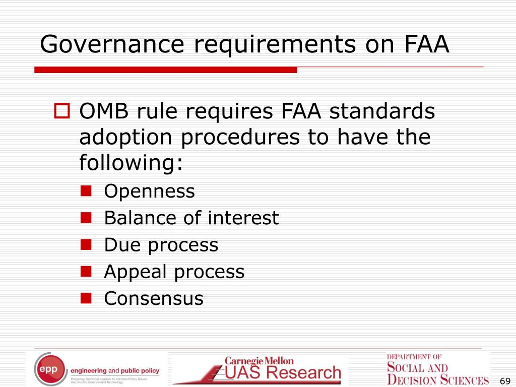 Governance requirements on FAA