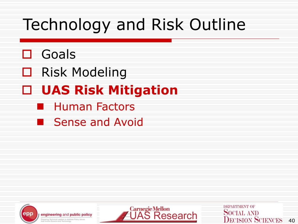 Technology and Risk Outline
