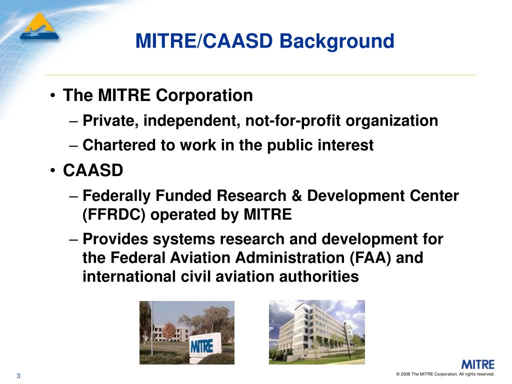 MITRE/CAASD Background