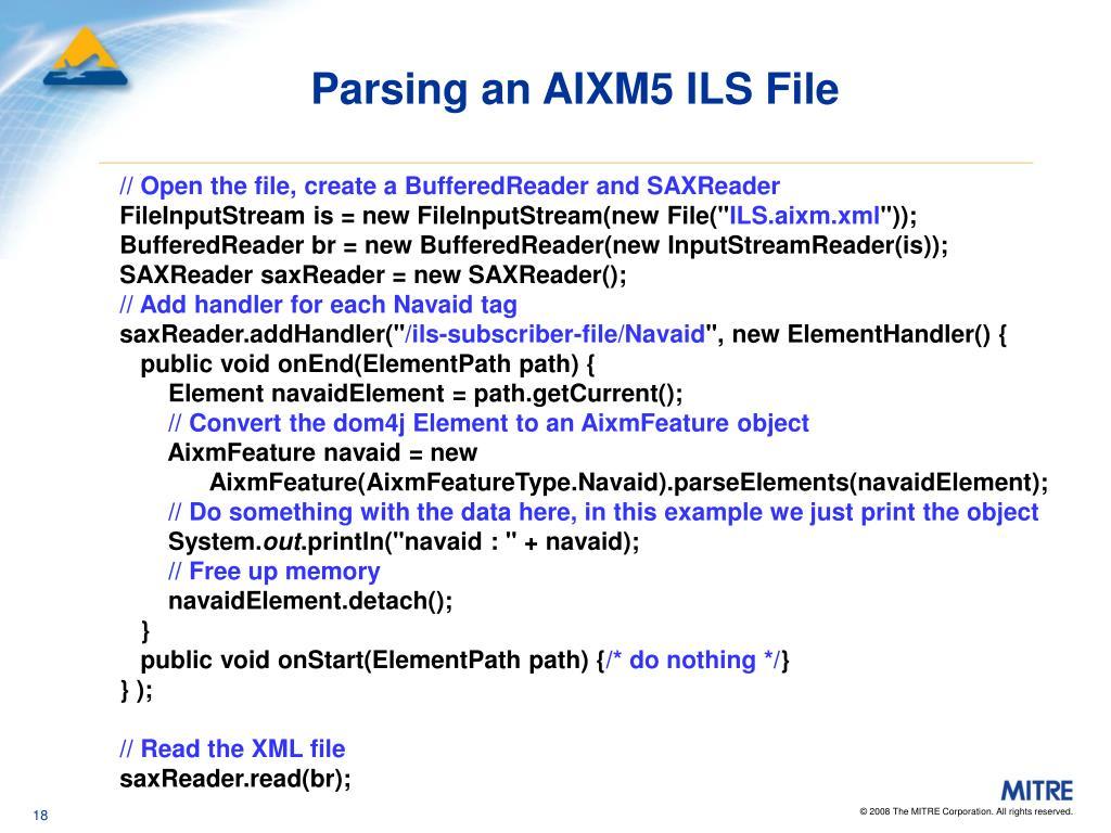 Parsing an AIXM5 ILS File