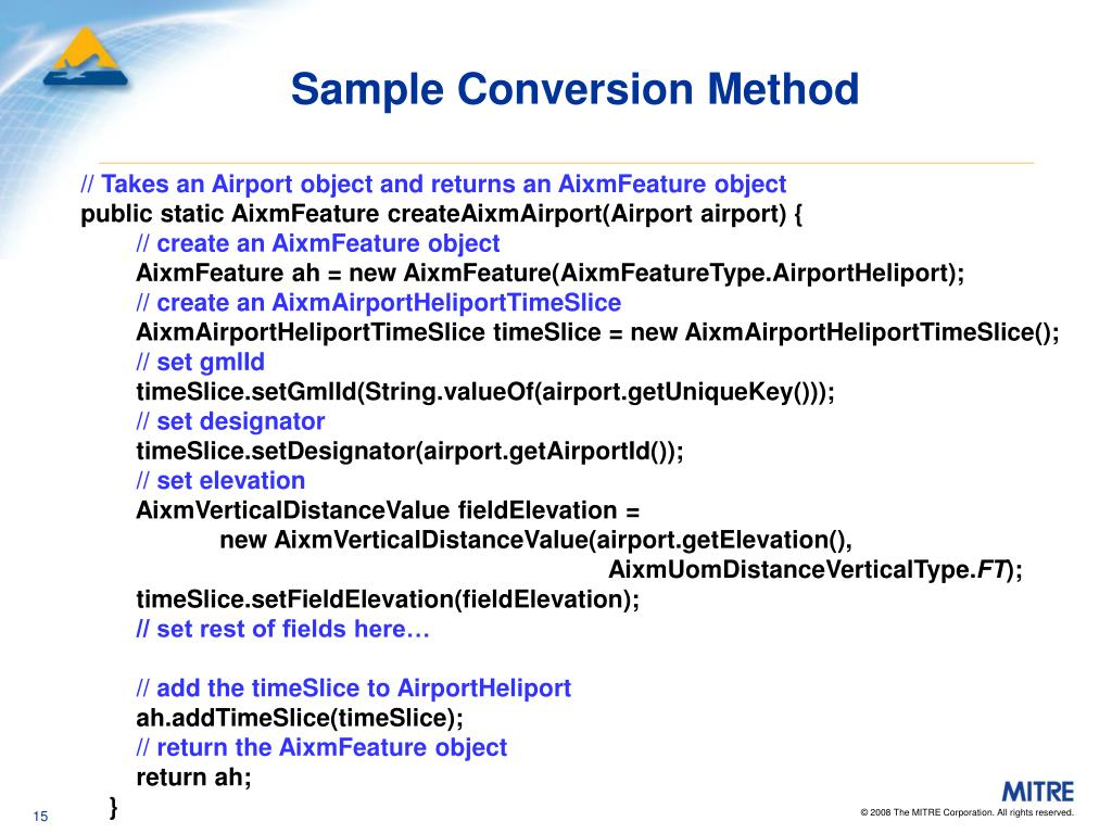 Sample Conversion Method