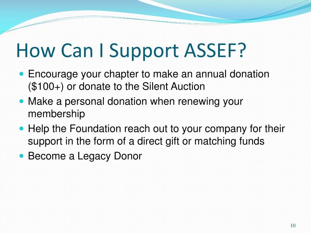 How Can I Support ASSEF?