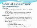named scholarship program something to think about