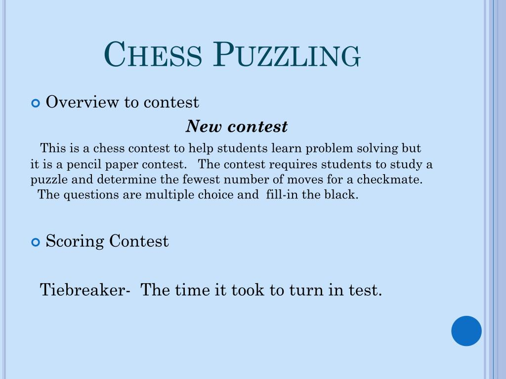 Chess Puzzling