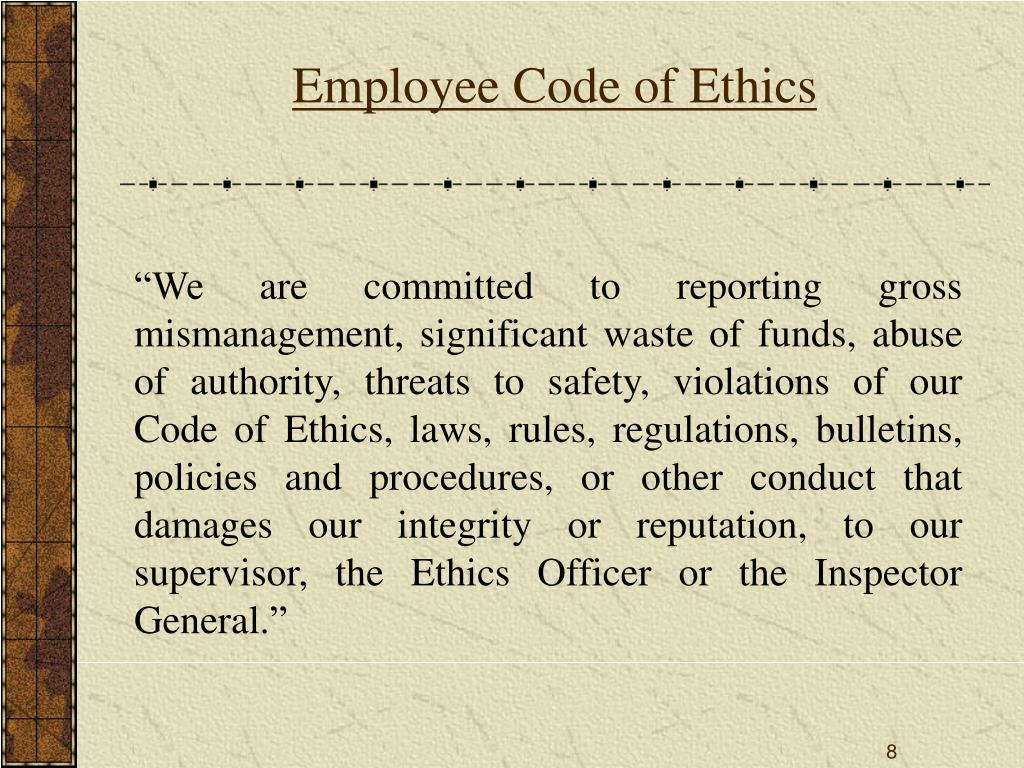 bp's code of ethics our commitment