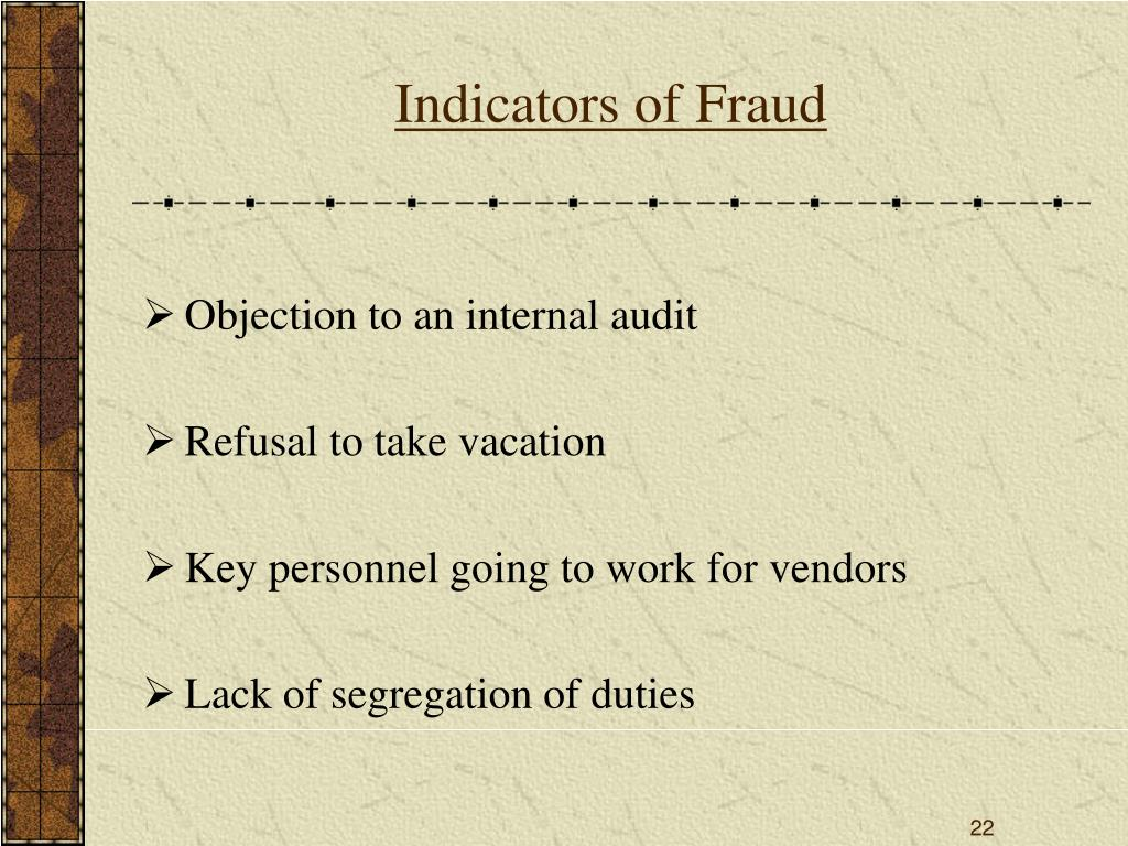 Indicators of Fraud