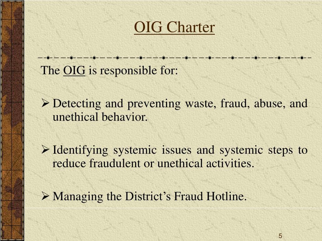 OIG Charter