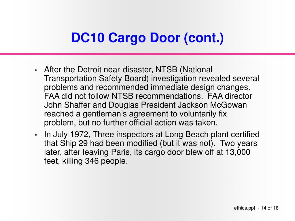 DC10 Cargo Door (cont.)