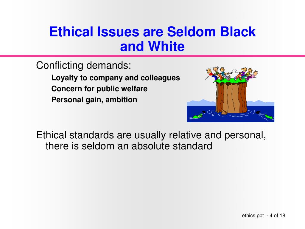 Ethical Issues are Seldom Black and White