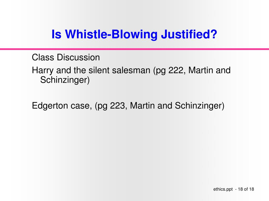 Is Whistle-Blowing Justified?