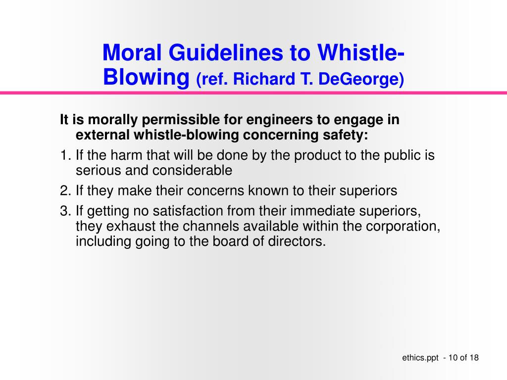 Moral Guidelines to Whistle-Blowing