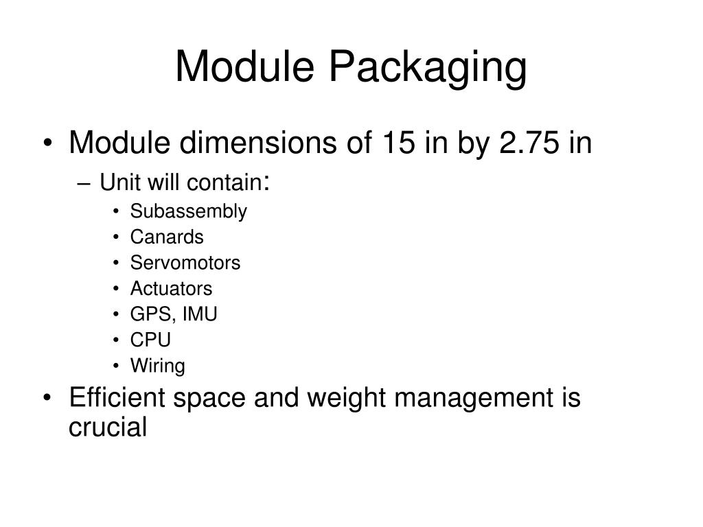 Module Packaging