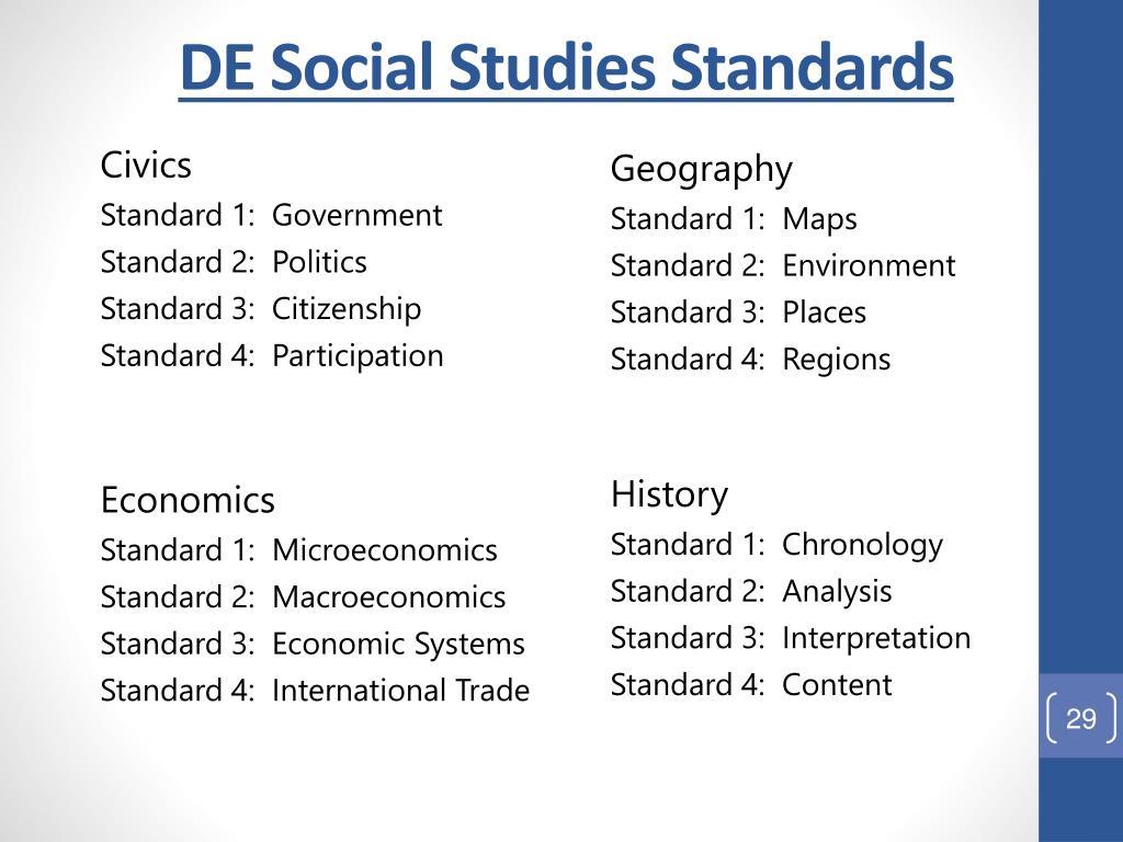 DE Social Studies Standards