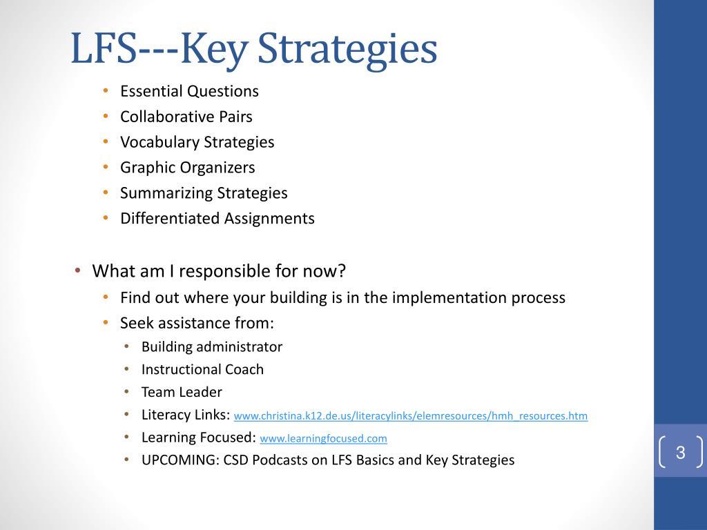 LFS---Key Strategies