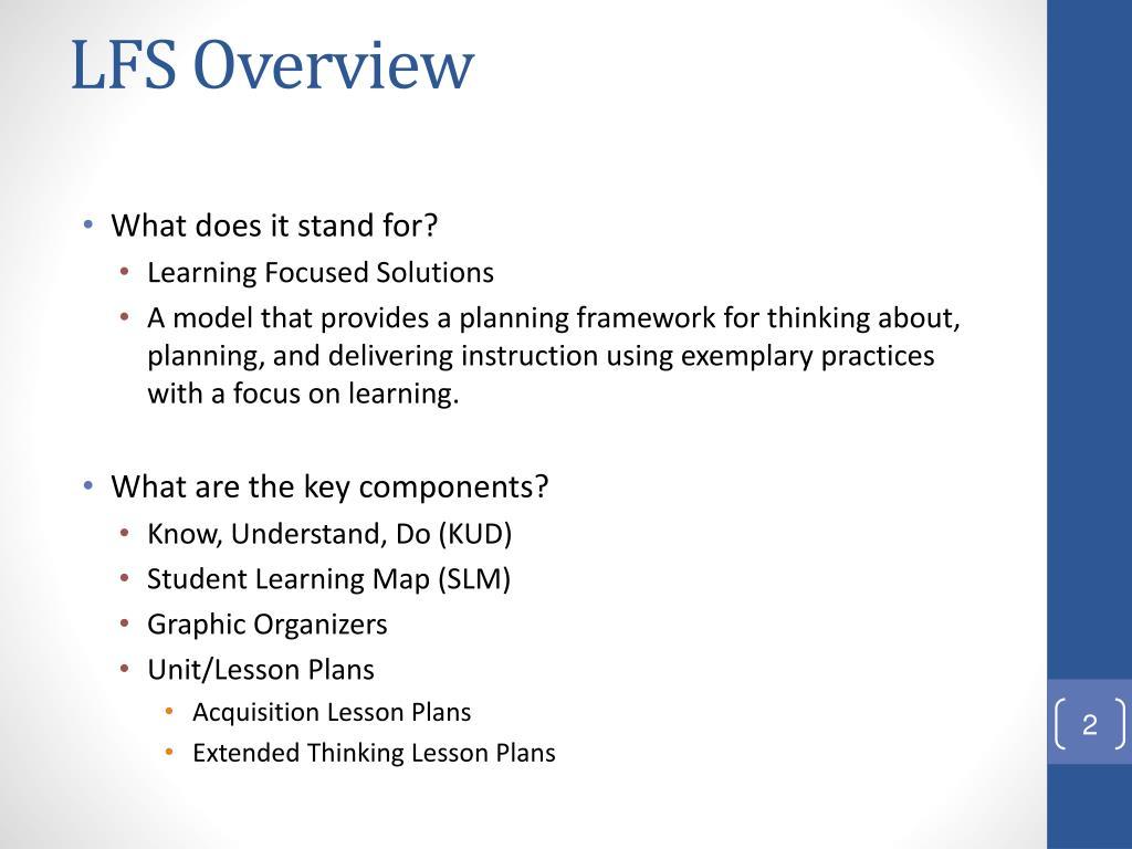 LFS Overview