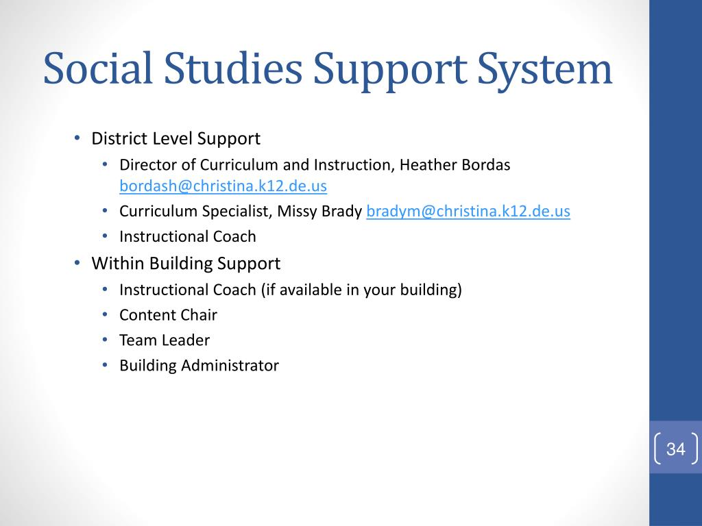 Social Studies Support System