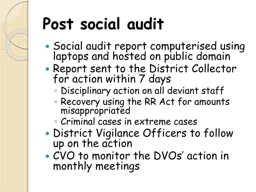 Post social audit