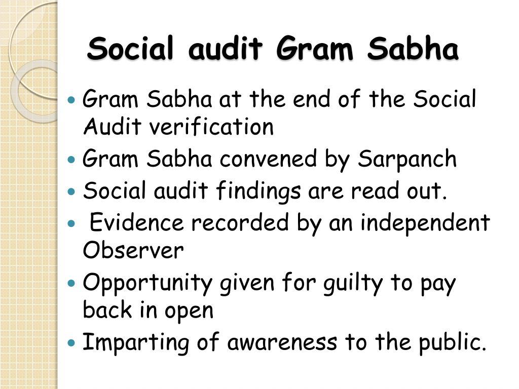 Social audit Gram Sabha