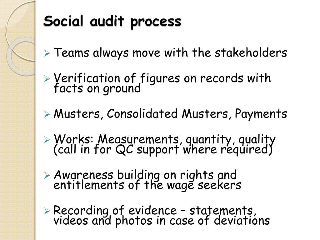 Social audit process