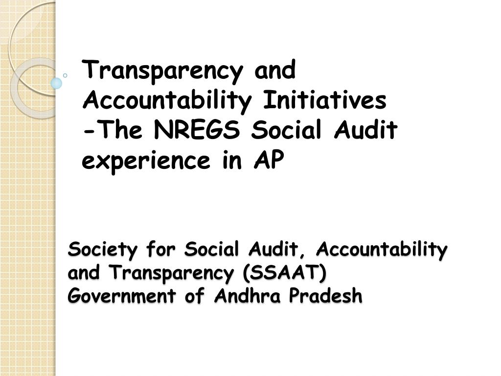 Society for Social Audit, Accountability and Transparency (SSAAT)
