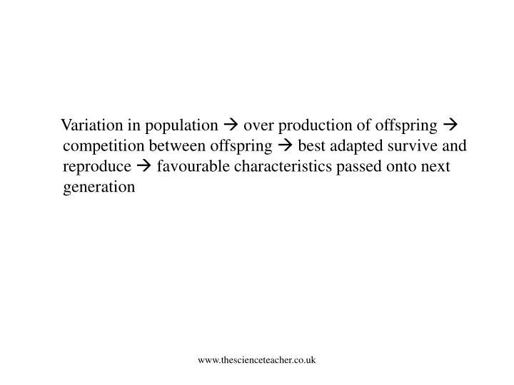 Variation in population