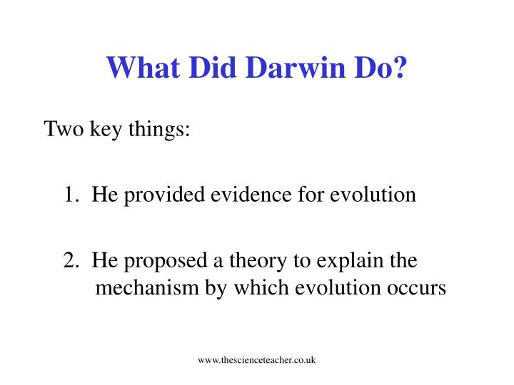 What Did Darwin Do?