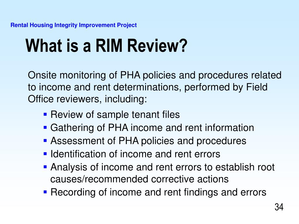 What is a RIM Review?