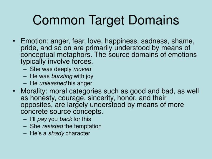 Common Target Domains
