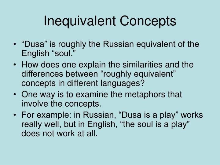 Inequivalent Concepts