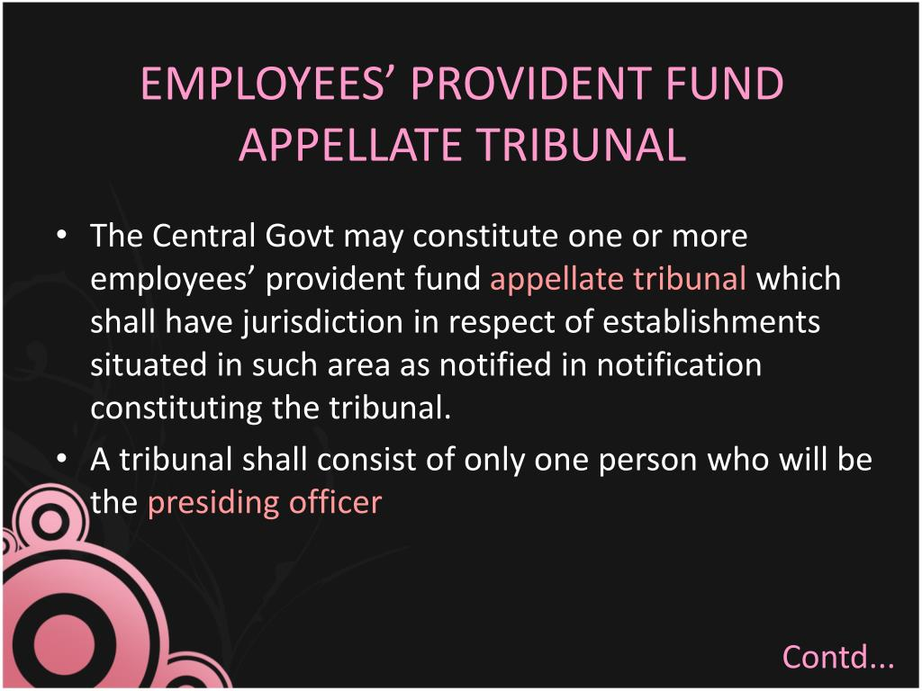 EMPLOYEES' PROVIDENT FUND APPELLATE TRIBUNAL