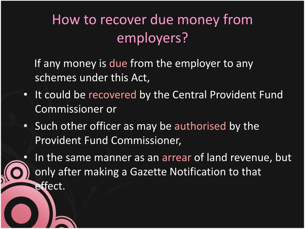 How to recover due money from employers?