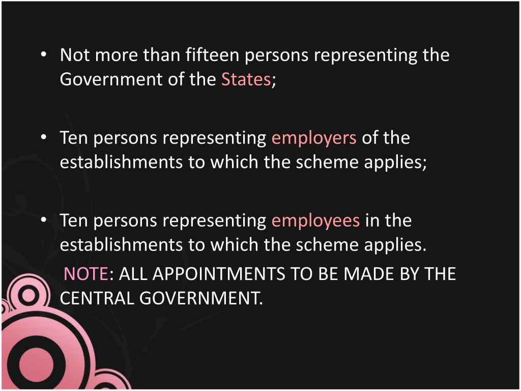 Not more than fifteen persons representing the Government of the