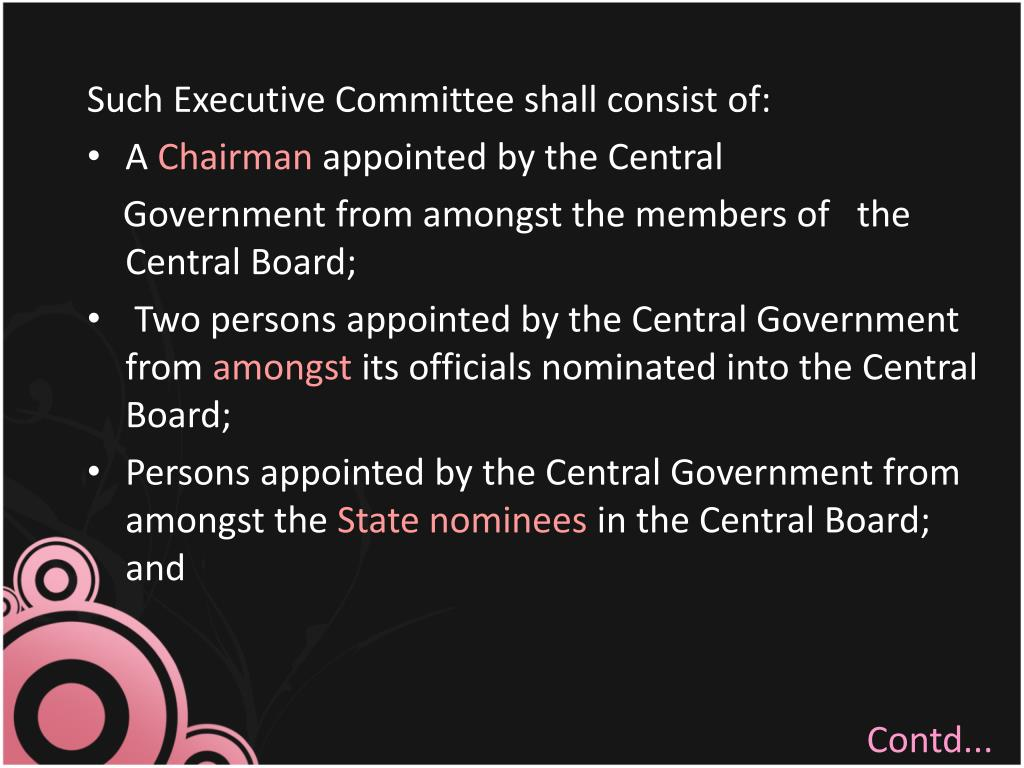 Such Executive Committee shall consist of: