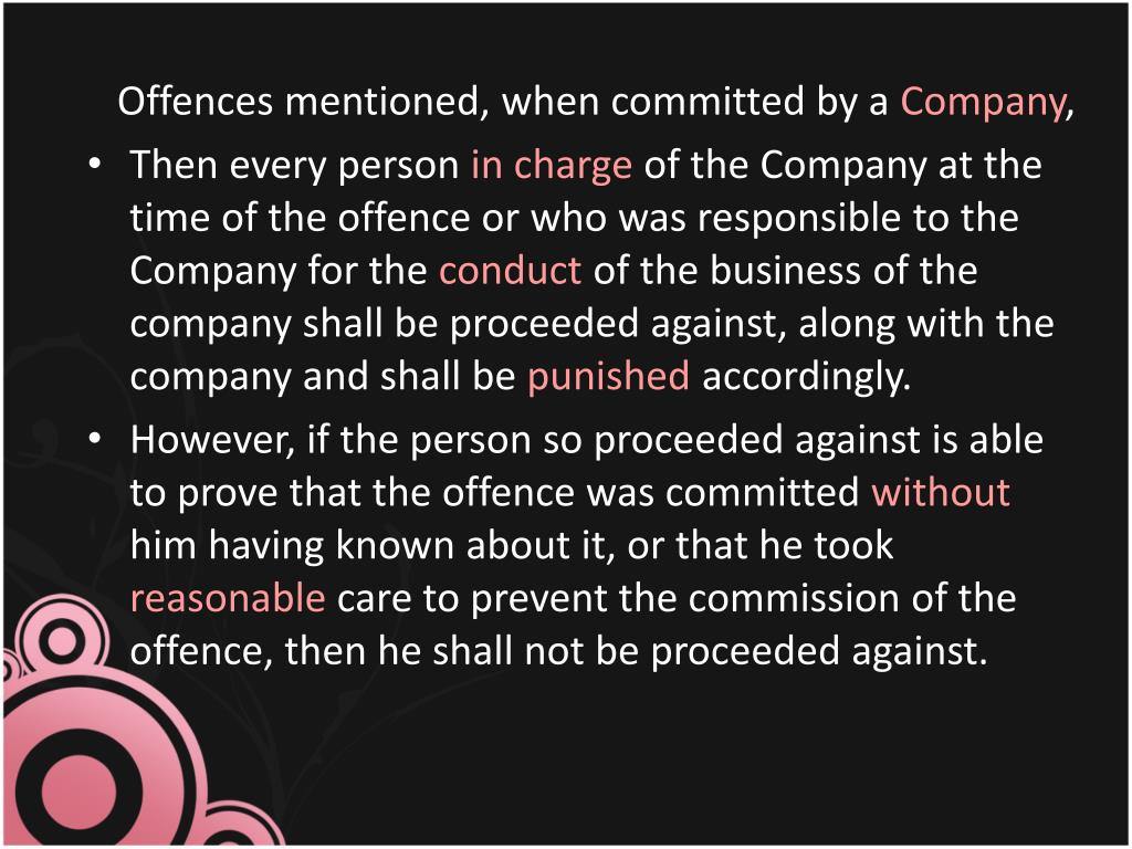 Offences mentioned, when committed by a