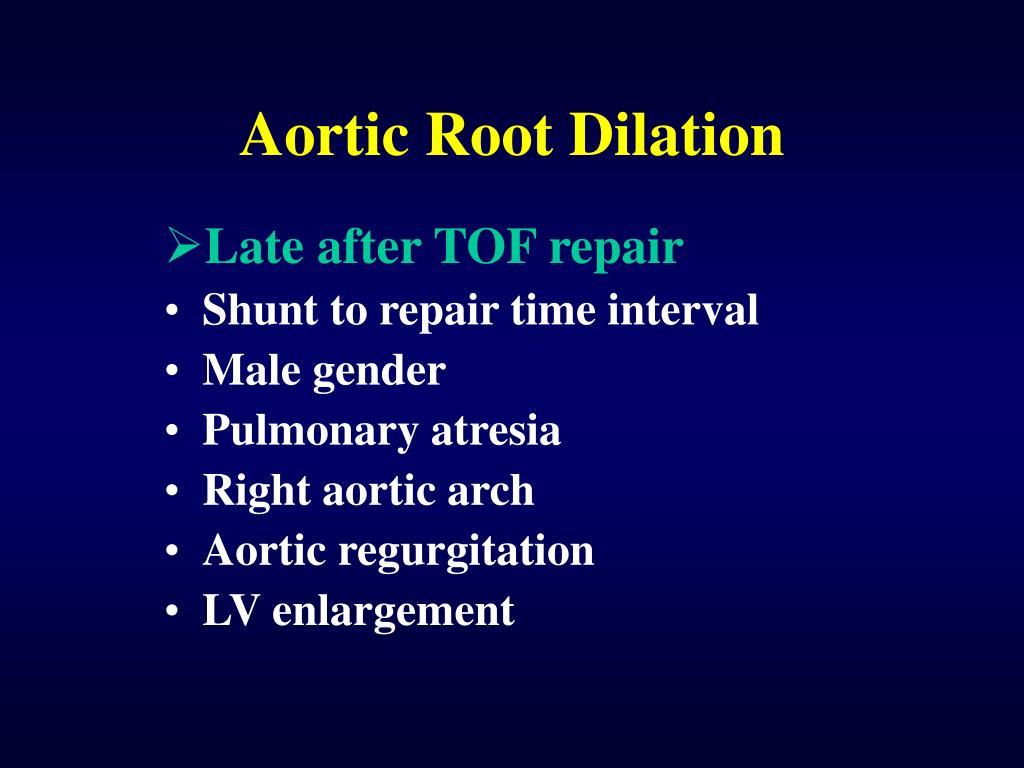 Aortic Root Dilation