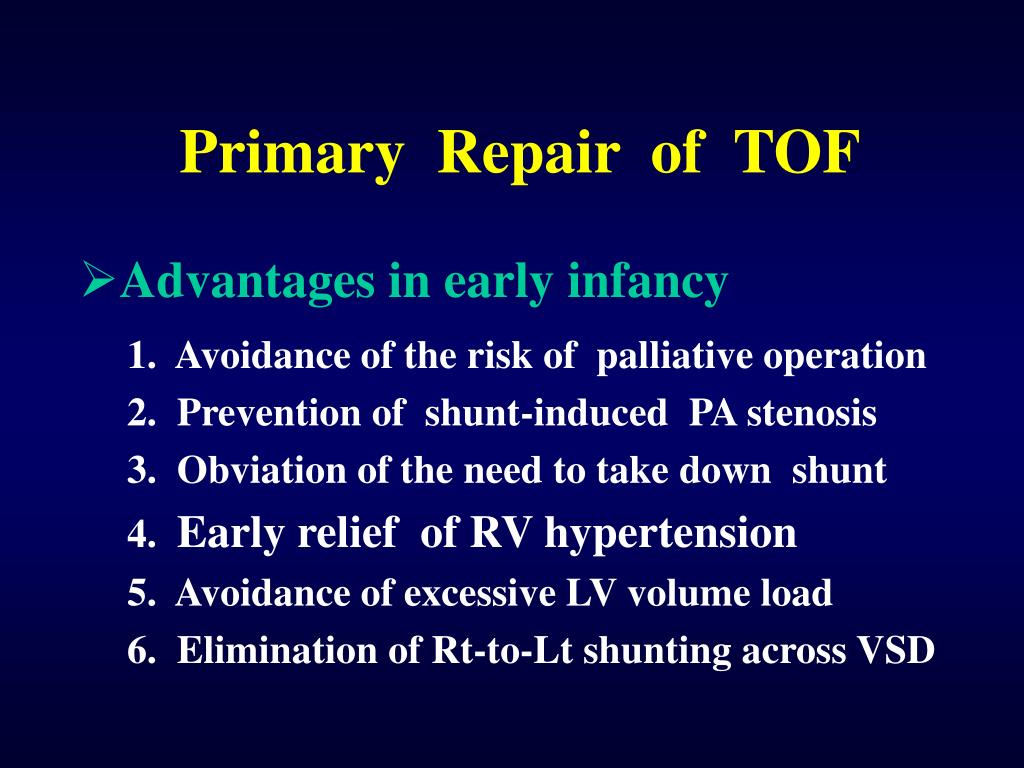 Primary  Repair  of  TOF