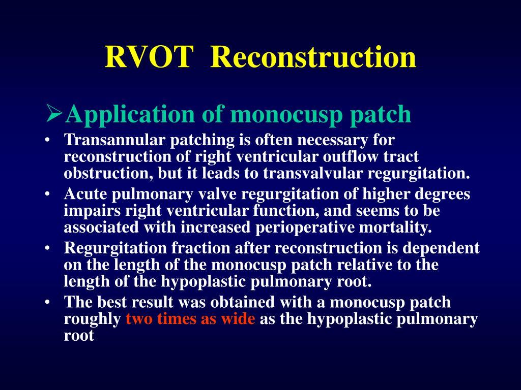 RVOT  Reconstruction