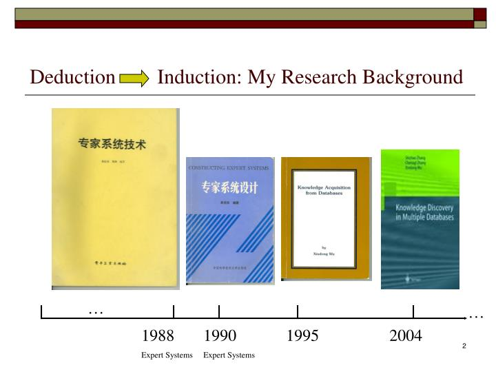 Deduction induction my research background