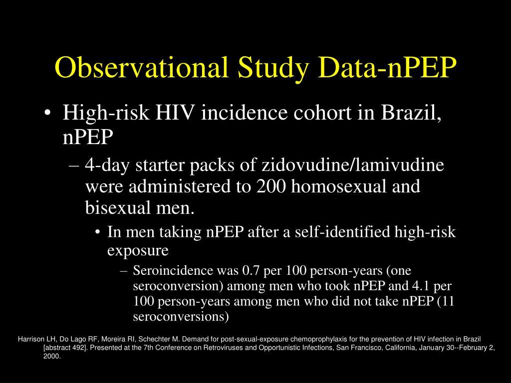 Observational Study Data-nPEP