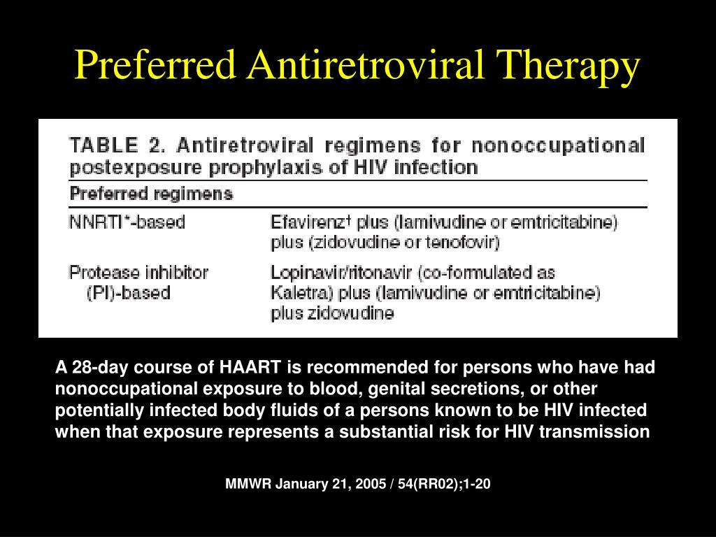 Preferred Antiretroviral Therapy