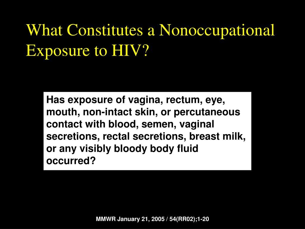 What Constitutes a Nonoccupational Exposure to HIV?