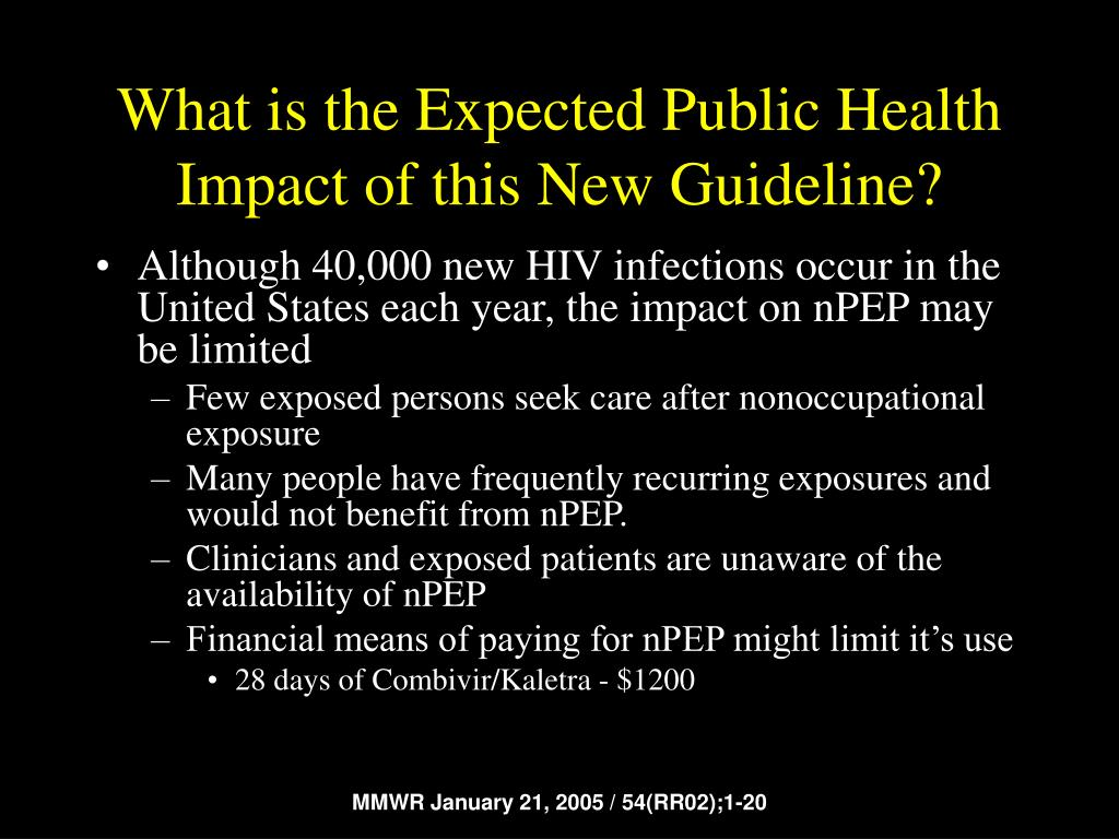 What is the Expected Public Health Impact of this New Guideline?