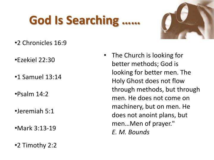 God is searching
