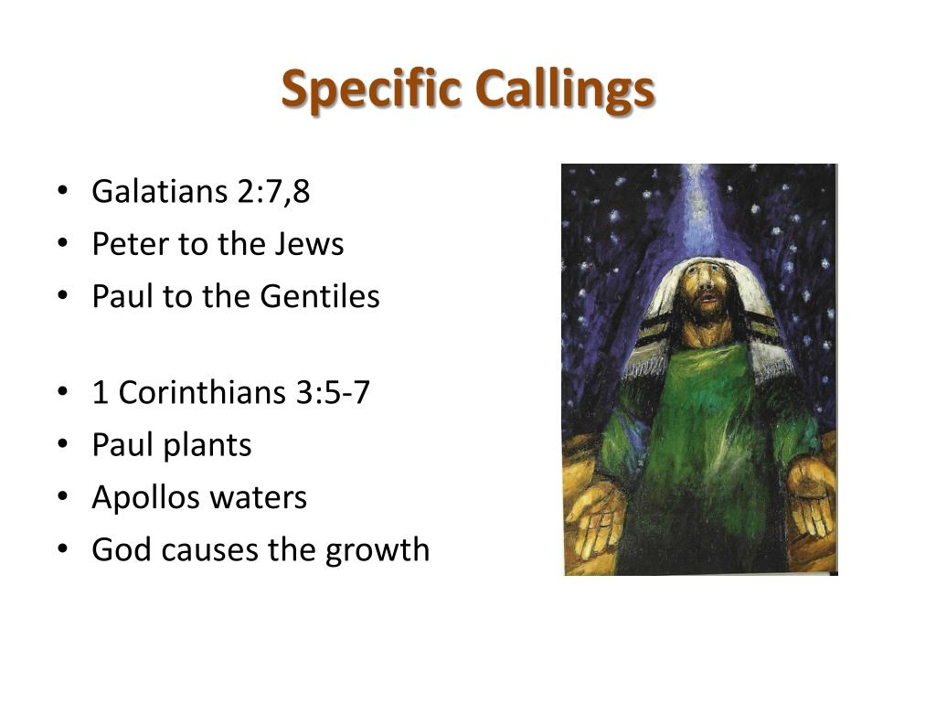 Specific Callings
