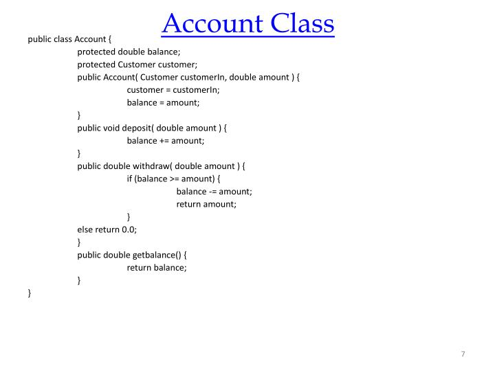 Account Class